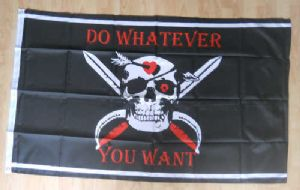 Pirate Do Whatever You Want Large Flag - 5' x 3'.